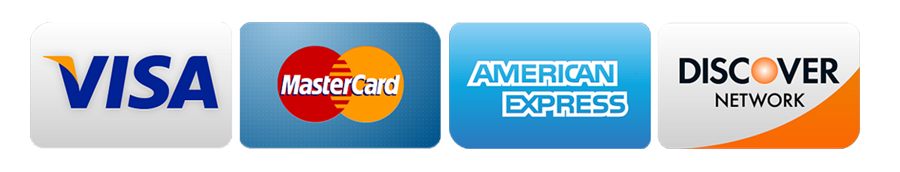 VISA, master card, American Express, Discover, Paypal