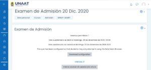 examen admision universidad